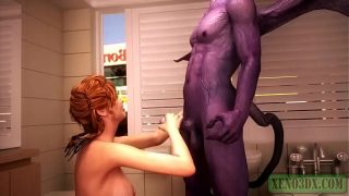 Red Head Hottie Fucked by Horny Satan | 3D Monster Sex